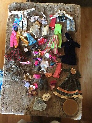 Vintage Mod Barbie Doll TLC Clothes Clothing Lot Some Handmade Kelly