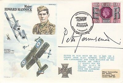 HA21c Cover Signed Peter  Townsend Battle of Britain Pilot WW11 Ace