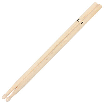 1 Pair 7A Practical Maple Wood Drum Sticks Drumsticks Music Bands Accessories S!