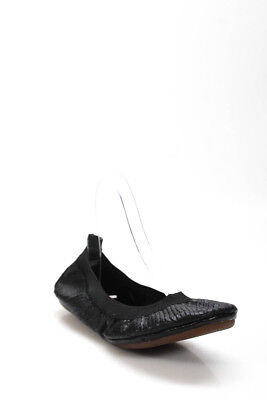 a60ac7354ae Yosi Samra Womens Flats Size 7 Black Leather Solid Ballet