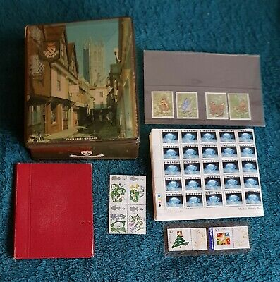 LARGE COLLECTION of Used and Some Mint Worldwide Stamps in Old Tin