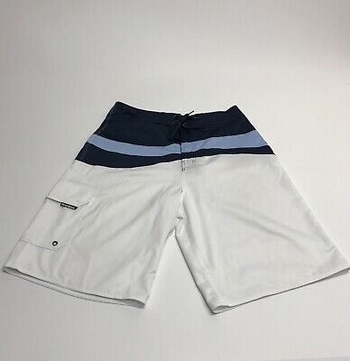 c81a0a4d73 First Wave 34 swim trunks Roundtree Yorke board shorts blue white Swimsuit  #[i5]