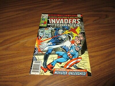 The Invaders #31 Meet Frankenstein and Captain America High Grade