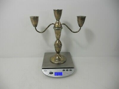 """10"""" Sterling Silver 3-Armed Candelabrum. Duchin Creations, Weighted. 649.0g"""