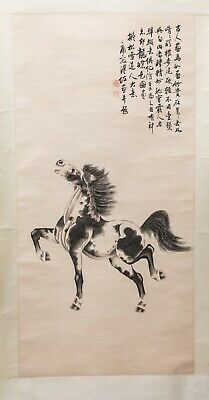 Chinese Antique/Vintage Ink Wash Painting Of Horse