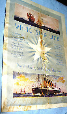 TITANIC First Class Passenger Booklet Disaster Maiden Voyage Document Names UK