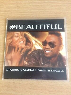 MARIAH CAREY Ft MIGUEL & ASAP - BEAUTIFUL - 7 REMIX RARE U.S CD PROMO