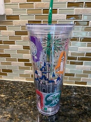 New Arrival! 2019 Disney Parks Starbucks Cold Cup Venti 24oz Acrylic Tumbler