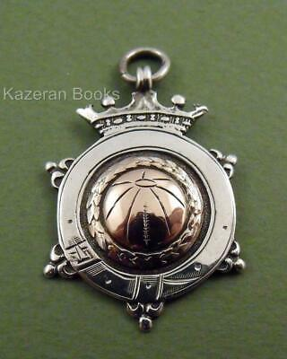 Vintage Solid Silver Pocket Watch Chain Football Fob Or Medal Unpersonalised