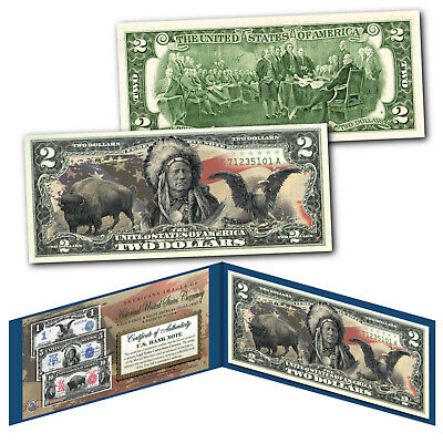 Americana Images of Historical US Currency Genuine Legal Tender $2 Bill MUST SEE