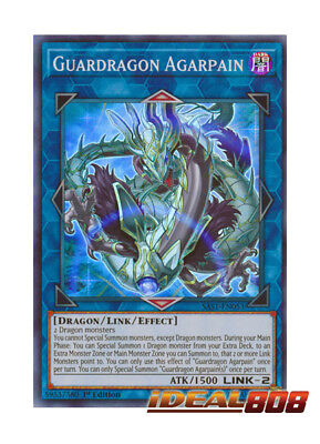 YUGIOH x 1 Guardragon Agarpain - SAST-EN053 - Super Rare - 1st Edition Near Mint