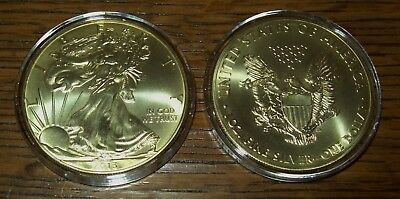2013 24K Gold Gilded American Silver Eagle 1 Troy Oz. .999 Fine One Dollar Coin