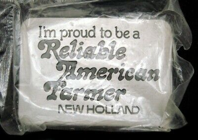Lj04121 *Mip* 1982 Proud To Be A Reliable American Farmer **New Holland** Buckle