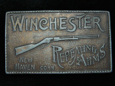 PH15125 VINTAGE 1970s **WINCHESTER REPEATING ARMS** GUN & FIREARM BELT BUCKLE