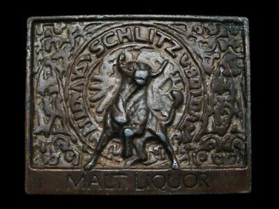 MJ11112 VINTAGE 1970s **SCHLITZ MALT LIQUOR** BEER BELT BUCKLE