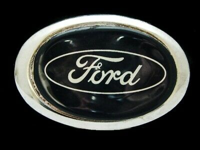 NG01103 VINTAGE 1970s **FORD** (MOTOR COMPANY) CAR/AUTO SILVERTONE BELT BUCKLE