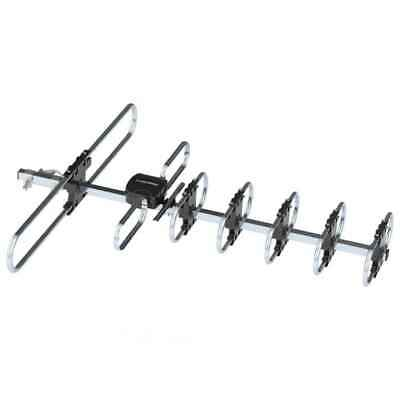 470-860MHz 10m Double-head Black Silver Wire Open Outdoor Antenna without Stand