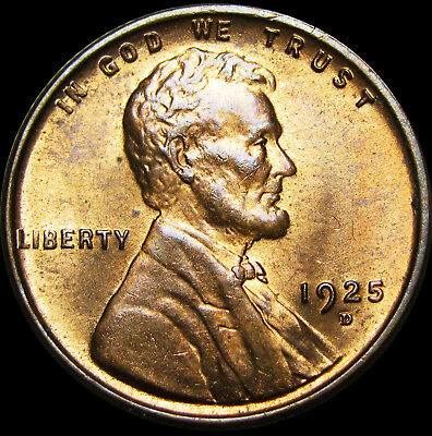 1925-D Lincoln Cent Wheat Penny --- PCGS MS-64 RB Gem BU+ --- #156