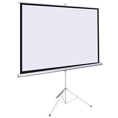 "120"" Inch Portable Projector Screen Home Theatre 4:3 Projection w/ Tripod Stand"
