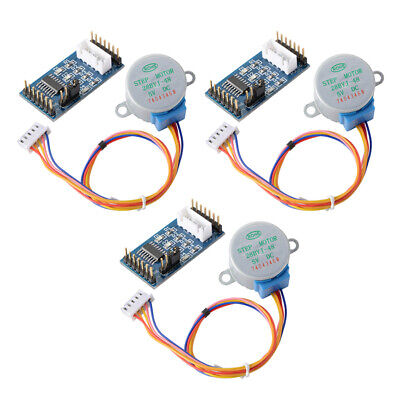 3 Sets 28BYJ-48 DC 5V Stepper Motor+ULN2003 Motor Driver Board for Arduino TE759