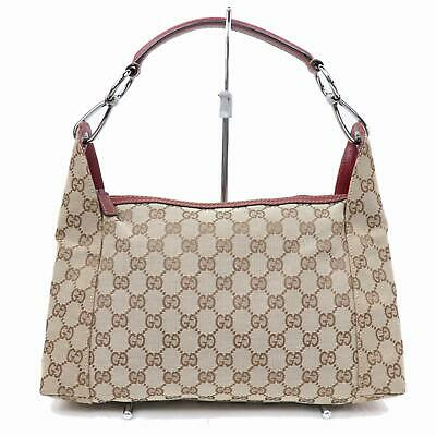 529fe8fc895 Authentic Gucci Hand Bag Browns Canvas 374178