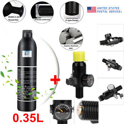 Paintball 0.35L Air Tank With Regulator Valve For Industrial Hardware 1800psi