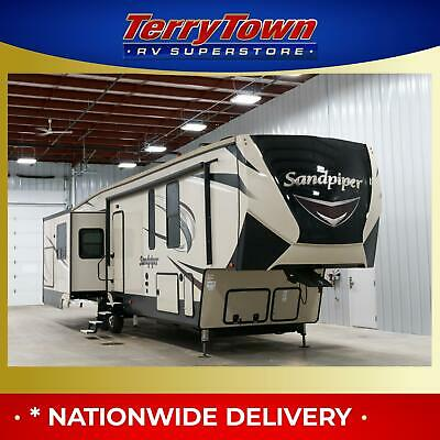New 2018 Forest River Sandpiper 372LOK Mid Bunk Fifth Wheel Camper RV Clearance