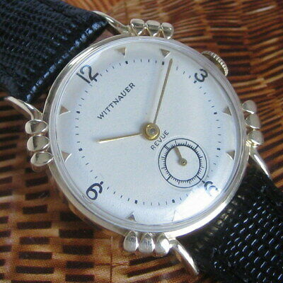 Mens 1951 Longines WITTNAUER 14k SOLID GOLD Knotted Lug Vintage Swiss 17j Watch