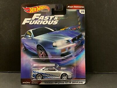 Hot Wheels Nissan Skyline R34 Brian's Auto Fast And Furious 1/64 Gbw75-956c