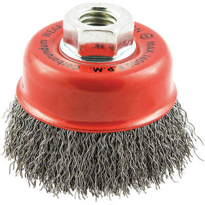 """GRAINGER APPROVED Cup Brush,Wire 0.014"""" dia.,Carbon Steel, 66252838776"""