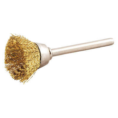 """GRAINGER APPROVED Cup Brush,Wire 0.005"""" dia.,Brass, 66252838658"""