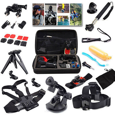 15 in 1 Accessories kit Head Chest Mount Floating Monopod For GoPro Camera SJCAM