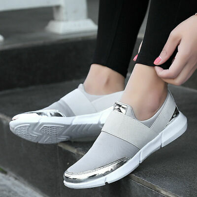 AU Women's Sneakers Casual Slip on Athletic Sport Running Trainers Outdoor Shoes