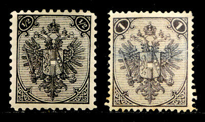 BOSNIA & HERZEGOVINA: 1897-94 STAMP COLLECTION SCOTT #1a, 2 CV $33.50 UNUSED