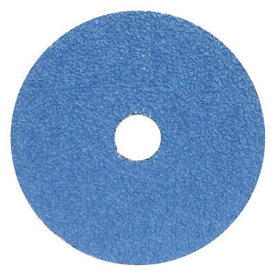 "GRAINGER APPROVED Fiber Disc,5"",7/8"" Hole Mount,Blue,PK25, 05539510713, Blue"