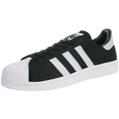 Adidas Superstar black white men's iconic low-top sneakers trainers NEW