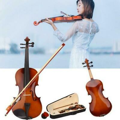 New 1/2 Size Natural Color Acoustic Violin Fiddle + Case + Bow + Rosin
