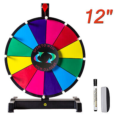 "24"" Prize Wheel Multi Color Tabletop Spinning Dry Erase Fortune Carnival Game AU"