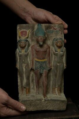 ANCIENT EGYPTIAN EGYPT ANTIQUES Statue Osiris and Nephthys and Isis 1500-300 BCE