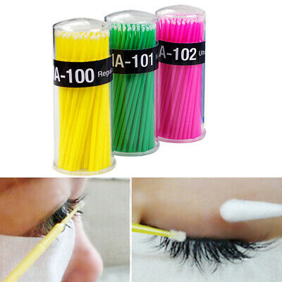 100X Portable Travel Cotton Makeup Cosmetic Remover grafting eyelash Swabs Buds