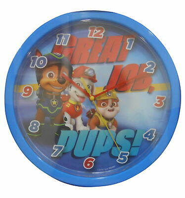 Paw Patrol Boys Blue Wall Clock - Great Job Pups