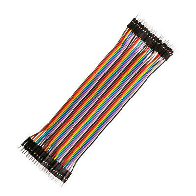 40pcs Dupont Wire 2.54MM Jumpercables Male To Male 1P-1P For Arduino 20cm