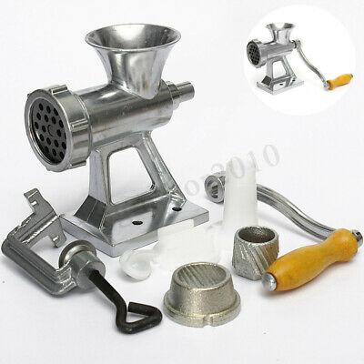 Heavy Duty Manual Sausage Maker Beef Meat Mincer Grinder Hand Kitchen Table Hand