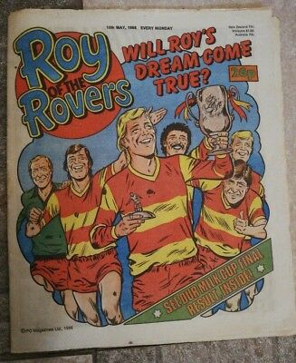 ROY of the ROVERS Classic Weekly Football Comic 10/05/86 - 10th May 1986