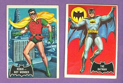 NICE Complete Set of 1966 Topps BATMAN (Black) Cards, EX+