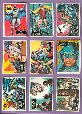 Lot / Partial Set (45/55) of 1966 Topps BATMAN (Black) Cards, VG-VgEX