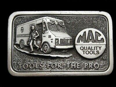 MI03136 VINTAGE 1970s **MAC QUALITY TOOLS - TOOLS FOR THE PRO** BELT BUCKLE