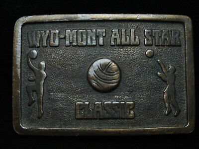 PF27152 VINTAGE 1970s **WYO-MONT ALL STAR CLASSIC** BASKETBALL BELT BUCKLE