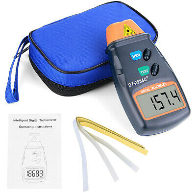 Non Contact Digital Laser Photo Tachometer RPM Tach Meter Motor Speed ​​Tester