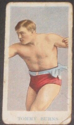 1909 American Caramel Co. Prize Fighters E75 TOMMY BURNS Boxing Card-The Ring